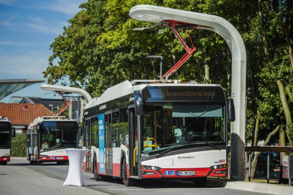 Metody ładowania autobusów elektrycznych – pantograf